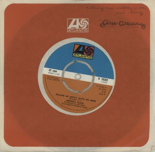 "Roberta Flack Killing Me Softly With His Song - 4pr 7"" vinyl single (7 inch record) UK RFK07KI578459"