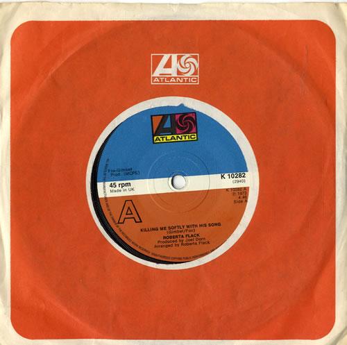 "Roberta Flack Killing Me Softly With His Song - solid 7"" vinyl single (7 inch record) UK RFK07KI601334"