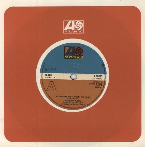 "Roberta Flack Killing Me Softly With His Song 7"" vinyl single (7 inch record) UK RFK07KI700028"