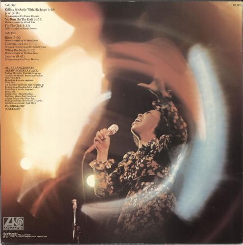 Roberta Flack Killing Me Softly vinyl LP album (LP record) Australian RFKLPKI724504