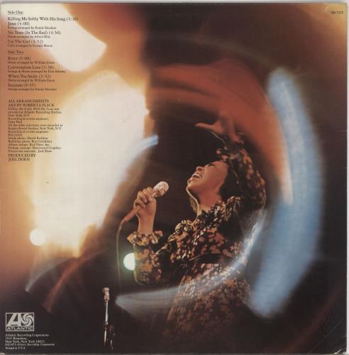 Roberta Flack Killing Me Softly vinyl LP album (LP record) US RFKLPKI730914