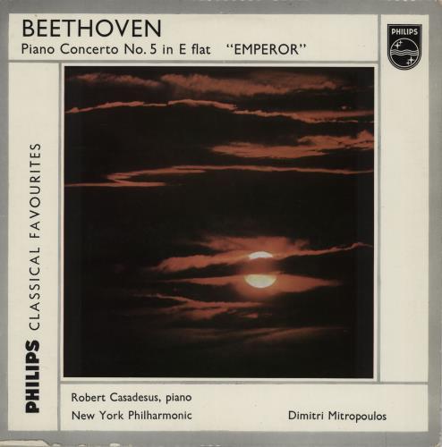 Robert Casadesus Beethoven: Piano Concerto No. 5 in E Flat, Op.73 vinyl LP album (LP record) UK X5BLPBE757401