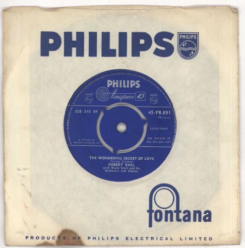 "Robert Earl The Wonderful Secret Of Love 7"" vinyl single (7 inch record) UK RQE07TH722850"