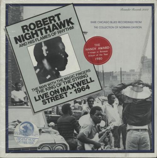 Robert Nighthawk Live On Maxwell Street - 1964 vinyl LP album (LP record) US R1BLPLI605075