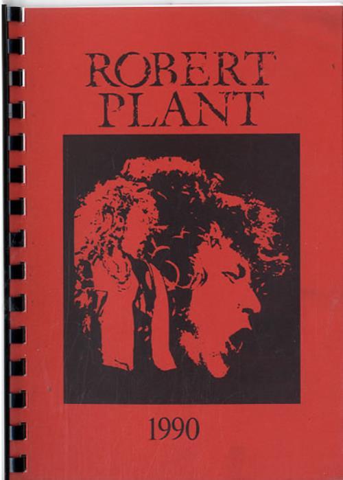 Robert Plant 1990 UK Tour Itinerary UK PLAITUK612058