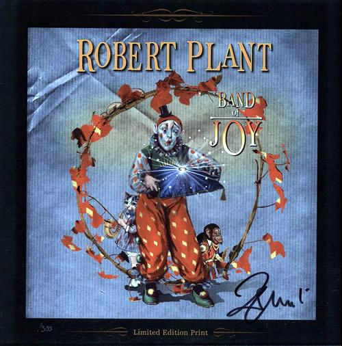 Robert Plant Band Of Joy - Autographed Limited Edition Print memorabilia UK PLAMMBA580033