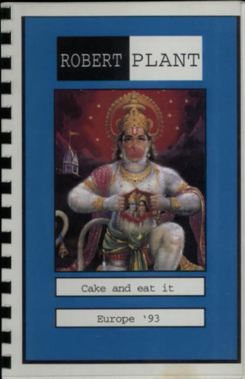 Robert Plant Cake And Eat It - Europe '93 Itinerary UK PLAITCA612177