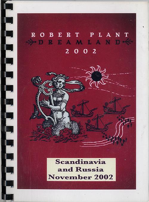 Robert Plant Dreamland 2002 - Scandinavia And Russia November 2002 + Pass Itinerary US PLAITDR612065