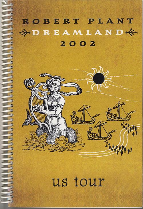 Robert Plant Dreamland 2002 - US Tour Itinerary US PLAITDR612063