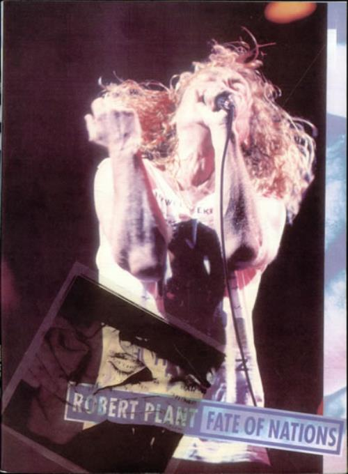 Robert Plant Fate On Nations Uk Tour Programme 80205