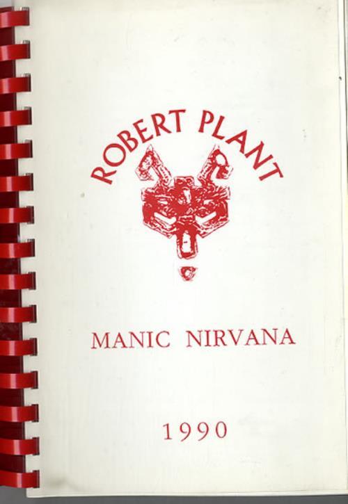 Robert Plant Manic Nirvana - North America 1990 Itinerary UK PLAITMA612060