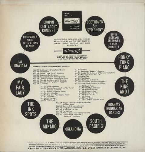 Robert Riefling Grieg Piano Concerto vinyl LP album (LP record) UK 13BLPGR757273