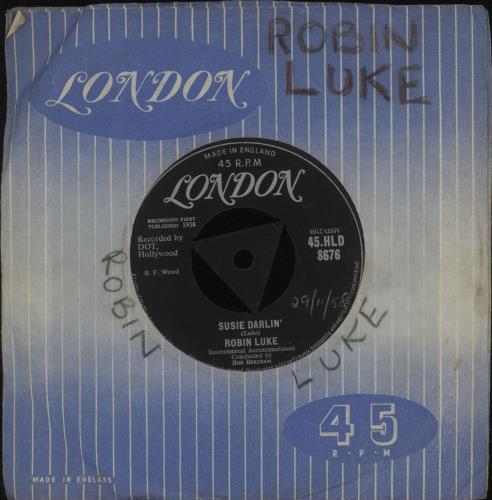 "Robin Luke Susie Darlin' 7"" vinyl single (7 inch record) UK R2Z07SU677772"