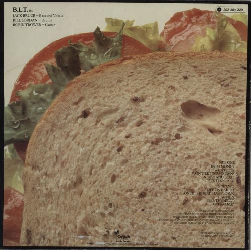 Robin Trower & Jack Bruce B.L.T. vinyl LP album (LP record) German R1KLPBL758204