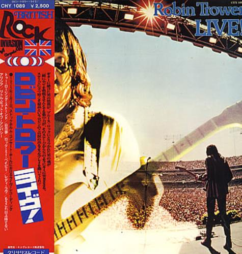 Robin Trower Live! vinyl LP album (LP record) Japanese RTRLPLI176055