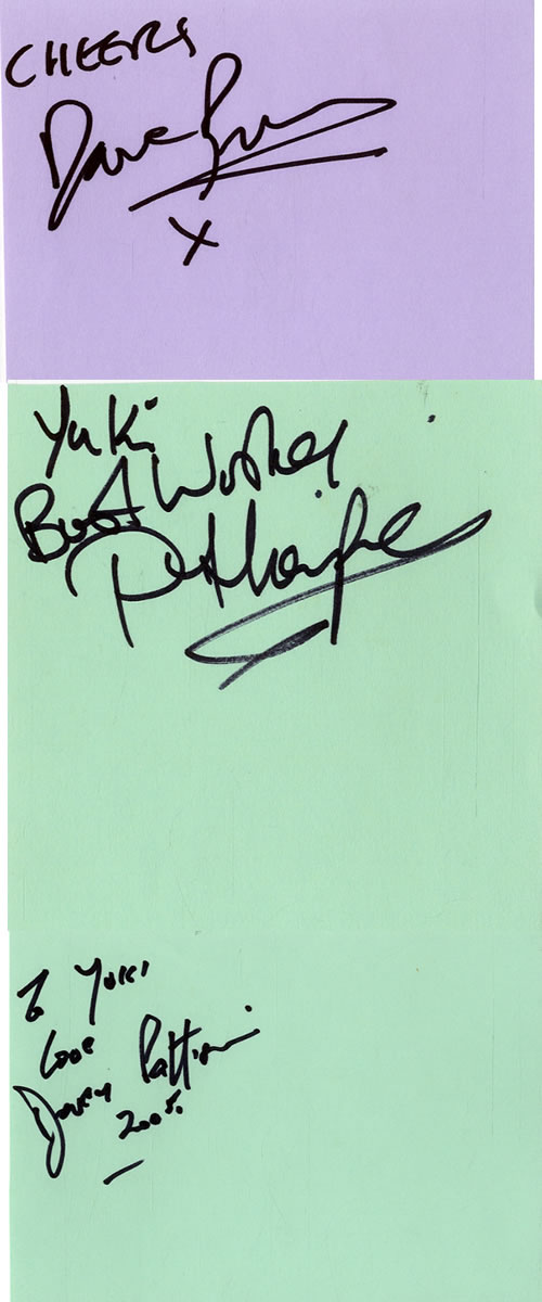 Robin Trower Pages From An Autograph Book memorabilia UK RTRMMPA601670