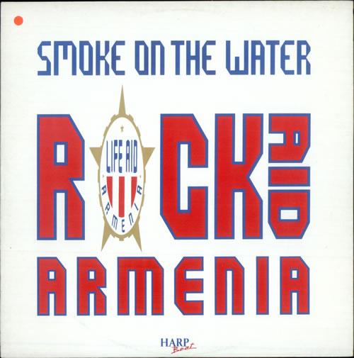 "Rock Aid Armenia Smoke On The Water - White Label 12"" vinyl single (12 inch record / Maxi-single) UK R-A12SM509912"