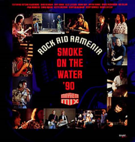 "Rock Aid Armenia Smoke On The Water '90 12"" vinyl single (12 inch record / Maxi-single) French R-A12SM219252"