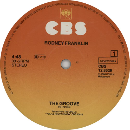 "Rodney Franklin The Groove 12"" vinyl single (12 inch record / Maxi-single) Dutch R8712TH627206"