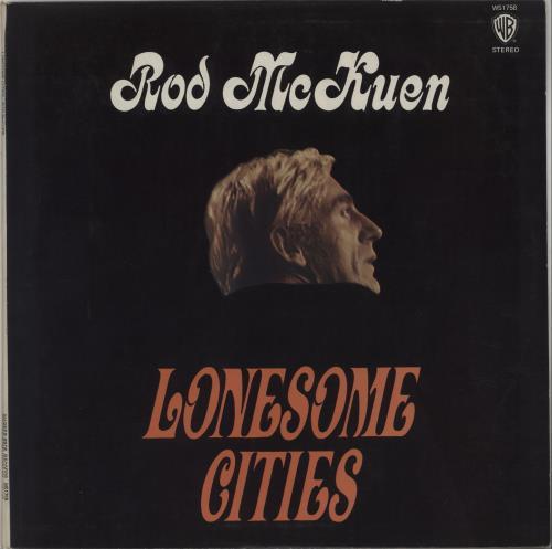 Rod McKuen Lonesome Cities vinyl LP album (LP record) UK RMQLPLO661435