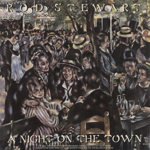 Rod Stewart A Night On The Town vinyl LP album (LP record) UK RODLPAN331306