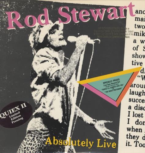 Rod Stewart Absolutely Live - Quiex II 2-LP vinyl record set (Double Album) US ROD2LAB111885