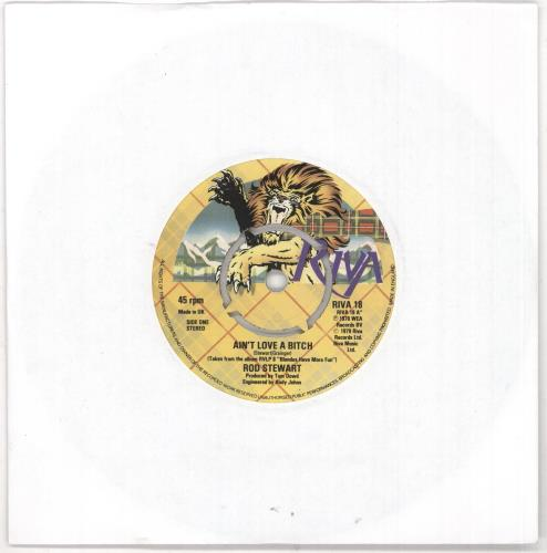 "Rod Stewart Ain't Love A Bitch - 4-Pr 7"" vinyl single (7 inch record) UK ROD07AI733773"