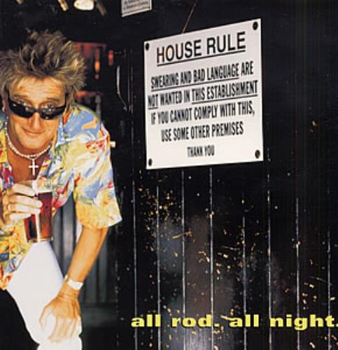 Rod Stewart All Rod All Night tour programme UK RODTRAL238487
