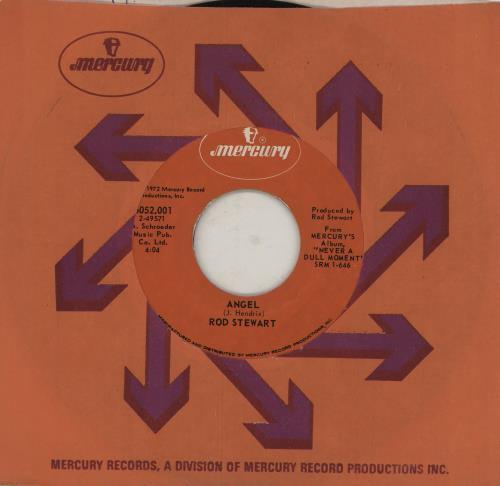 "Rod Stewart Angel 7"" vinyl single (7 inch record) US ROD07AN755594"