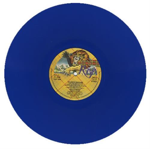 Rod Stewart Atlantic Crossing - Blue Vinyl vinyl LP album (LP record) UK RODLPAT116174
