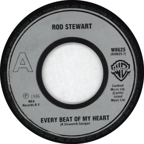 "Rod Stewart Every Beat Of My Heart - Jukebox 7"" vinyl single (7 inch record) UK ROD07EV722103"
