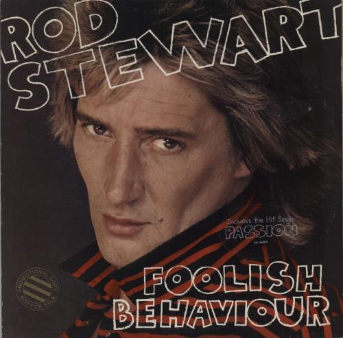 Rod Stewart Foolish Behaviour - Promo Stamped vinyl LP album (LP record) US RODLPFO751764