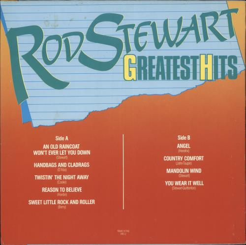 Rod Stewart Greatest Hits vinyl LP album (LP record) Italian RODLPGR717750