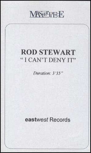 Rod Stewart I Can't Deny It video (VHS or PAL or NTSC) UK RODVIIC184456