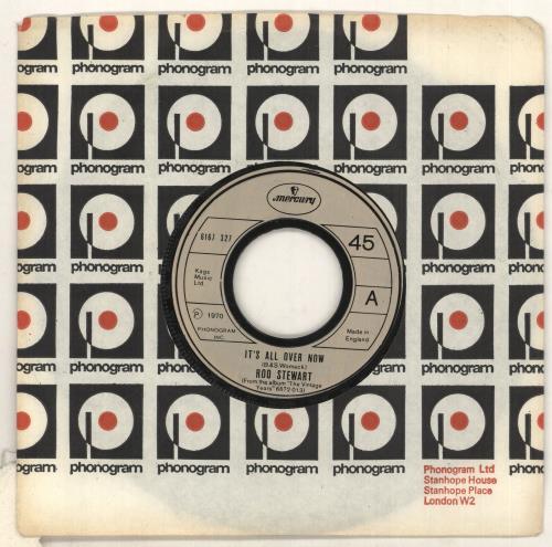 "Rod Stewart It's All Over Now - Jukebox 7"" vinyl single (7 inch record) UK ROD07IT733438"