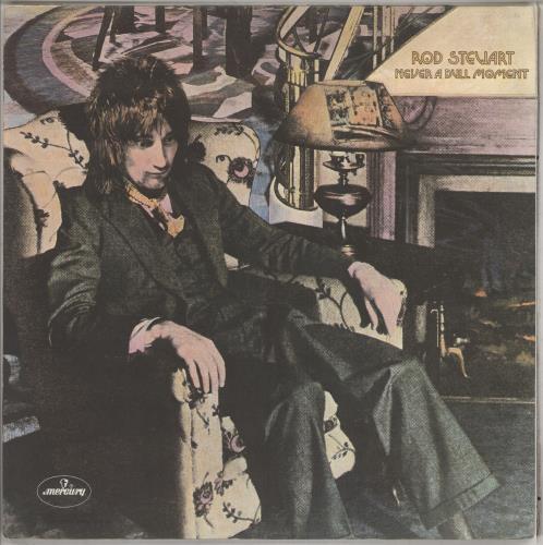 Rod Stewart Never A Dull Moment - 1st vinyl LP album (LP record) UK RODLPNE231585