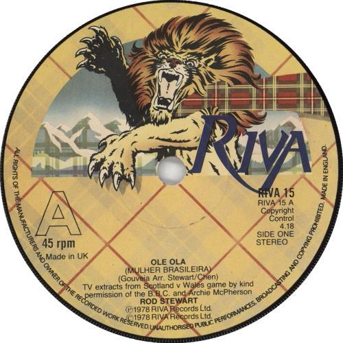"Rod Stewart Ole Ola - Solid Centre 7"" vinyl single (7 inch record) UK ROD07OL715647"