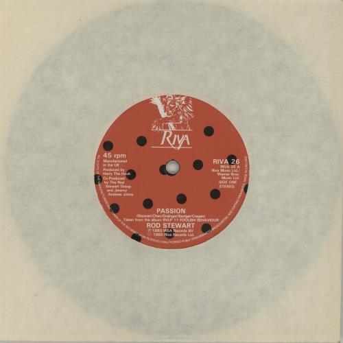 "Rod Stewart Passion 7"" vinyl single (7 inch record) UK ROD07PA681872"