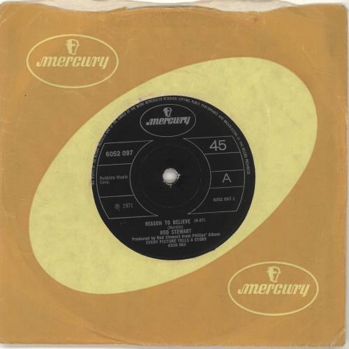 "Rod Stewart Reason To Believe - Solid 7"" vinyl single (7 inch record) UK ROD07RE689258"