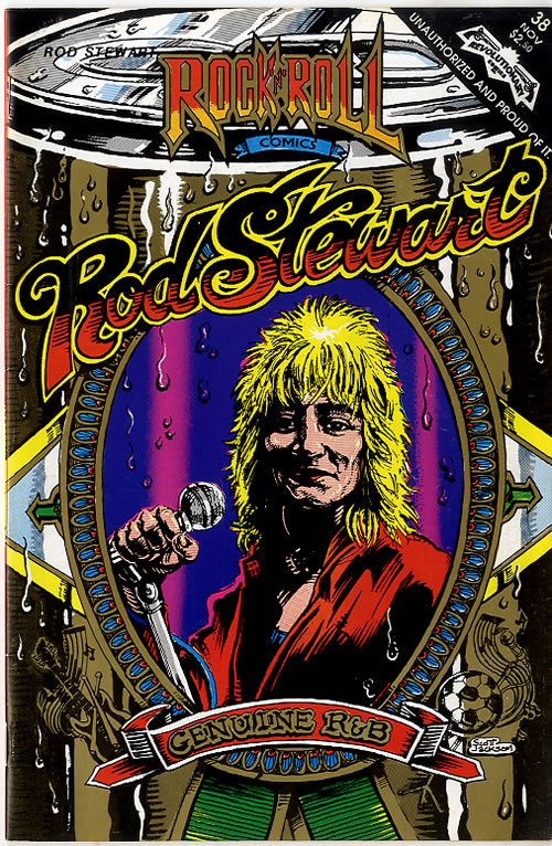 Rod Stewart Rock 'N' Roll Comic magazine US RODMARO616729