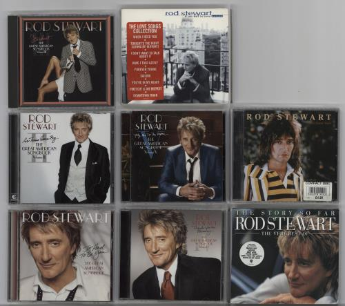 Rod Stewart The Great American Songbook Volumes 1 - 5 + 3 Extra CDs CD album (CDLP) UK RODCDTH760456