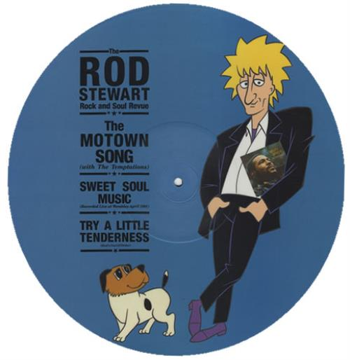 "Rod Stewart The Motown Song 12"" vinyl picture disc 12inch picture disc record UK ROD2PTH13605"