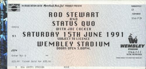 Rod Stewart Vagabond Tour + ticket stub tour programme UK RODTRVA209976