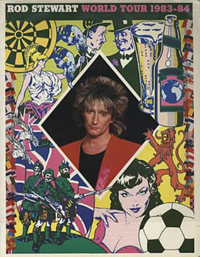 Rod Stewart World Tour 1983-4 tour programme UK RODTRWO209974