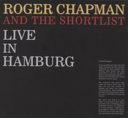 Roger Chapman Live In Hamburg 2 CD album set (Double CD) UK RGC2CLI733066