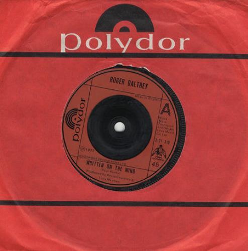 "Roger Daltrey Written On The Wind 7"" vinyl single (7 inch record) UK RGD07WR201667"