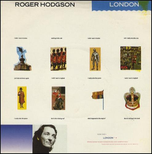 "Roger Hodgson London 7"" vinyl single (7 inch record) UK RGH07LO221630"