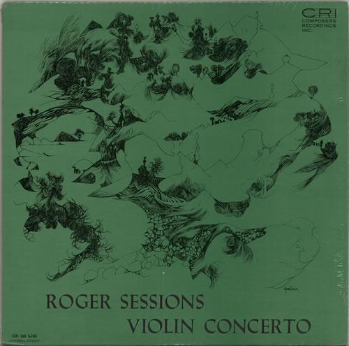 Roger Sessions Violin Concerto vinyl LP album (LP record) US XOHLPVI630793