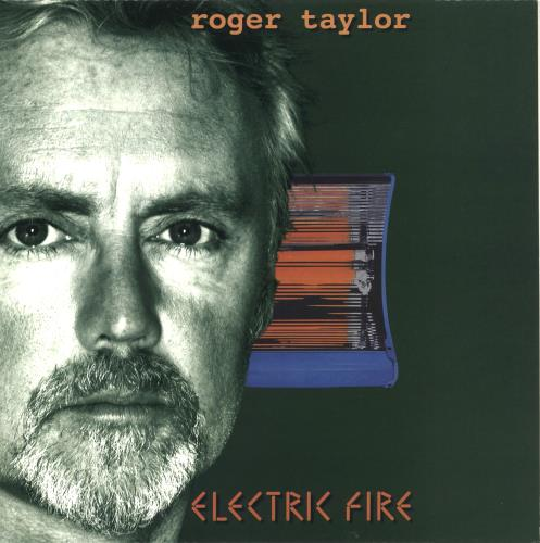 Roger Taylor Electric Fire - Orange Vinyl vinyl LP album (LP record) UK ROGLPEL122070