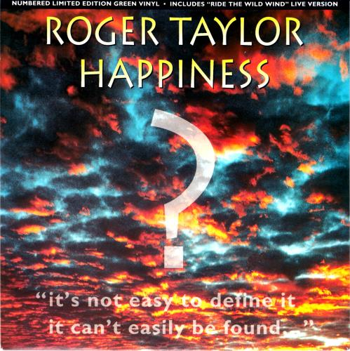 "Roger Taylor Happiness? - Green Vinyl 7"" vinyl single (7 inch record) UK ROG07HA37378"